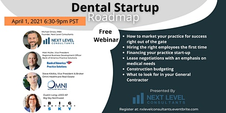 Dental Startup Roadmap tickets