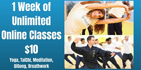 1 Week Of Unlimited Online Yoga Classes $10 Tickets