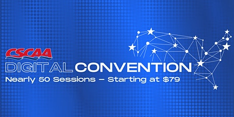 CSCAA Digital Convention tickets