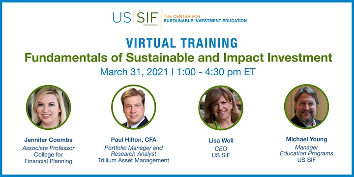 Virtual Training: Fundamentals of Sustainable and Impact Investment image