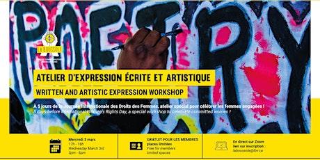 Atelier d'expression écrite et artistique tickets