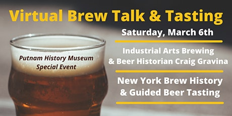 Virtual Brew Talk: New York Brew History & Guided Beer Tasting tickets