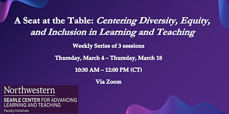 A Seat at the Table: Centering Diversity, Equity, and Inclusion in Learning tickets