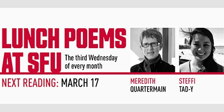 Lunch Poems presents Meredith Quartermain & Steffi Tad-y tickets