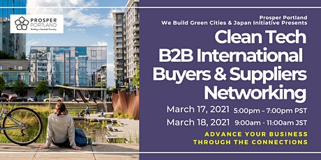 Clean Tech B2B Buyers & Suppliers International Networking Event tickets