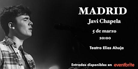 Concierto Javi Chapela en Madrid (acústico) entradas