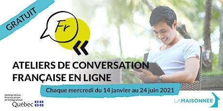 Ateliers de conversation française en ligne tickets