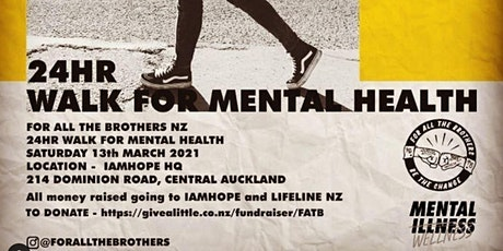 1HR walk for Mental Health tickets