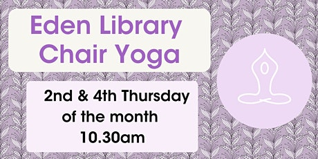 Chair Yoga @ Eden Library tickets