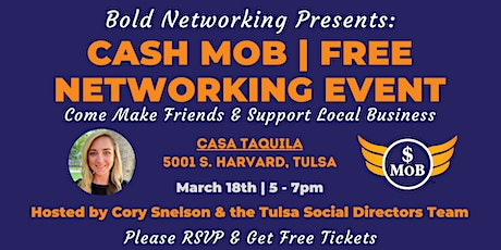 Tulsa Cash Mob - FREE Networking Event |March 2021 tickets