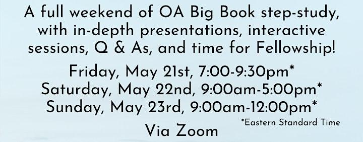 OA Big Book Study - Virtual Weekend Retreat image