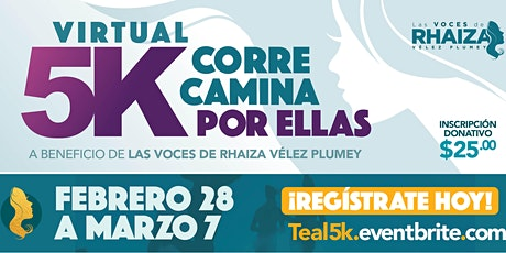 Corre o Camina por Ellas: 5K Carrera Virtual 2021 entradas