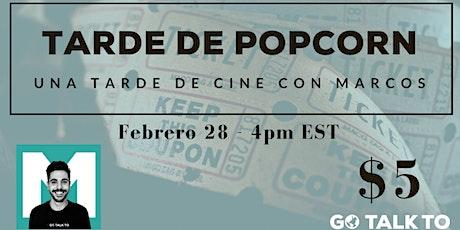 Una tarde de cine y español con Marcos boletos