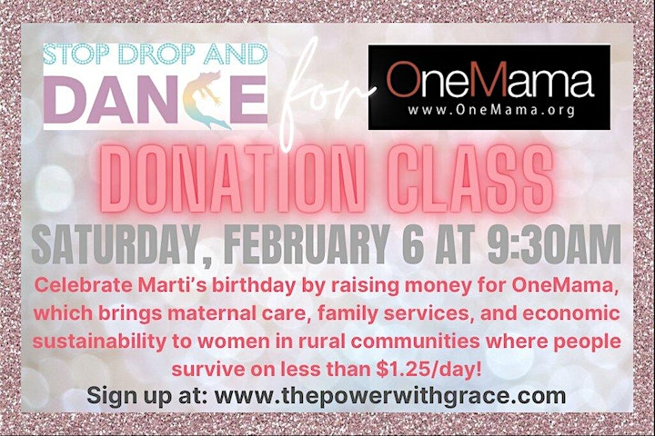 Sa 2/6  9:30am PST *DONATION CLASS* Stop Drop And Dance image