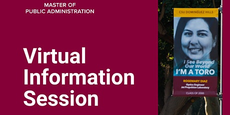 CSUDH MPA Virtual Information Session • March 2021 tickets