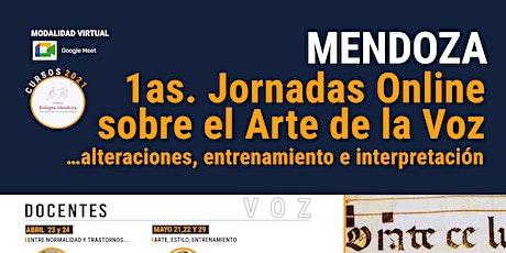 JORNADAS ONLINE SOBRE EL ARTE DE LA VOZ ingressos