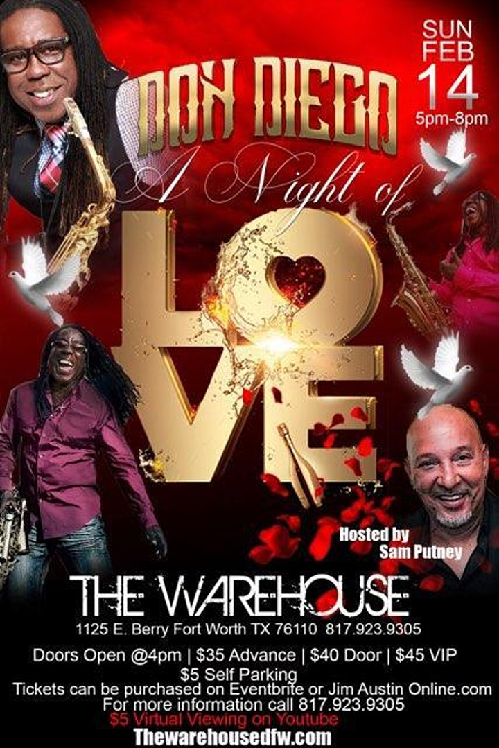 Don Diego Valentine Concert {5:00 PM CST} 2/14/2021 @ The Warehouse image
