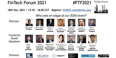FinTech Forum 2021 | 18th Nov. 2021 tickets