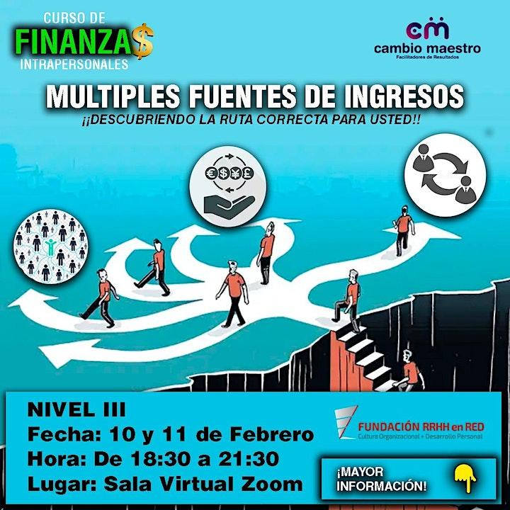 """Imagen de """"FINANZAS INTRAPERSONALES •NIVEL III: MULTIPLES FUENTES DE INGRESOS"""""""