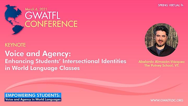 GWATFL Virtual Spring Conference for World Language Educators 2021 image
