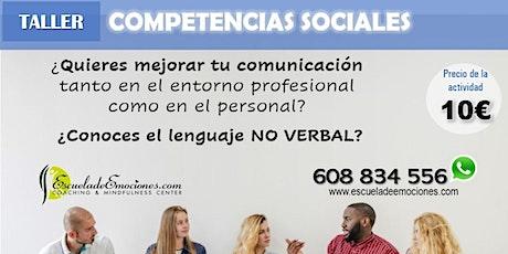 Desarrolla tus competencias sociales - confirmación previa entradas