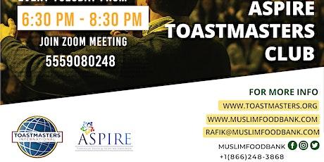 ASPIRE Toastmasters Club - ONLINE boletos