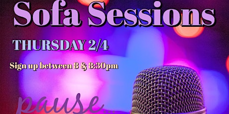 Sofa Sessions Open Mic tickets