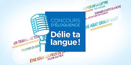 Finale du concours d'éloquence «Délie ta langue!» - Université de Montréal billets