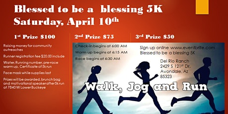 BLESSED TO BE A BLESSING 5K tickets
