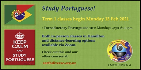 Study Brazilian Portuguese in 2021 with EarthDiverse! tickets