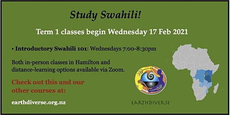 Study Swahili in 2021 with EarthDiverse! tickets