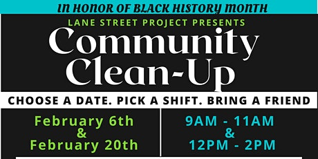 "LANE STREET PROJECT Presents ""Community Clean-Up"" tickets"