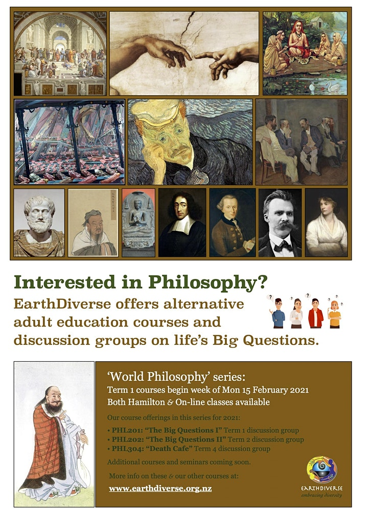 """Philosophical Discussion Group: """"The Big Questions"""" image"""