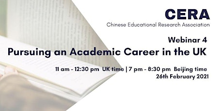 Webinar 4: Pursuing an Academic Career in the UK tickets