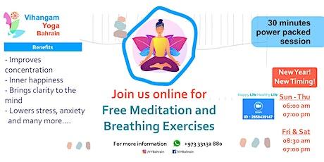 Free Breathing Exercises & Meditation Session tickets