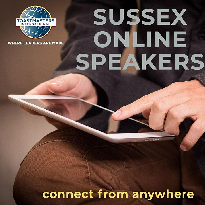 Public Speaking for anyone! Connect and learn at SUSSEX ONLINE SPEAKERS image