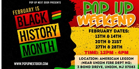BLACK HISTORY MONTH POP UP WEEKENDS! tickets