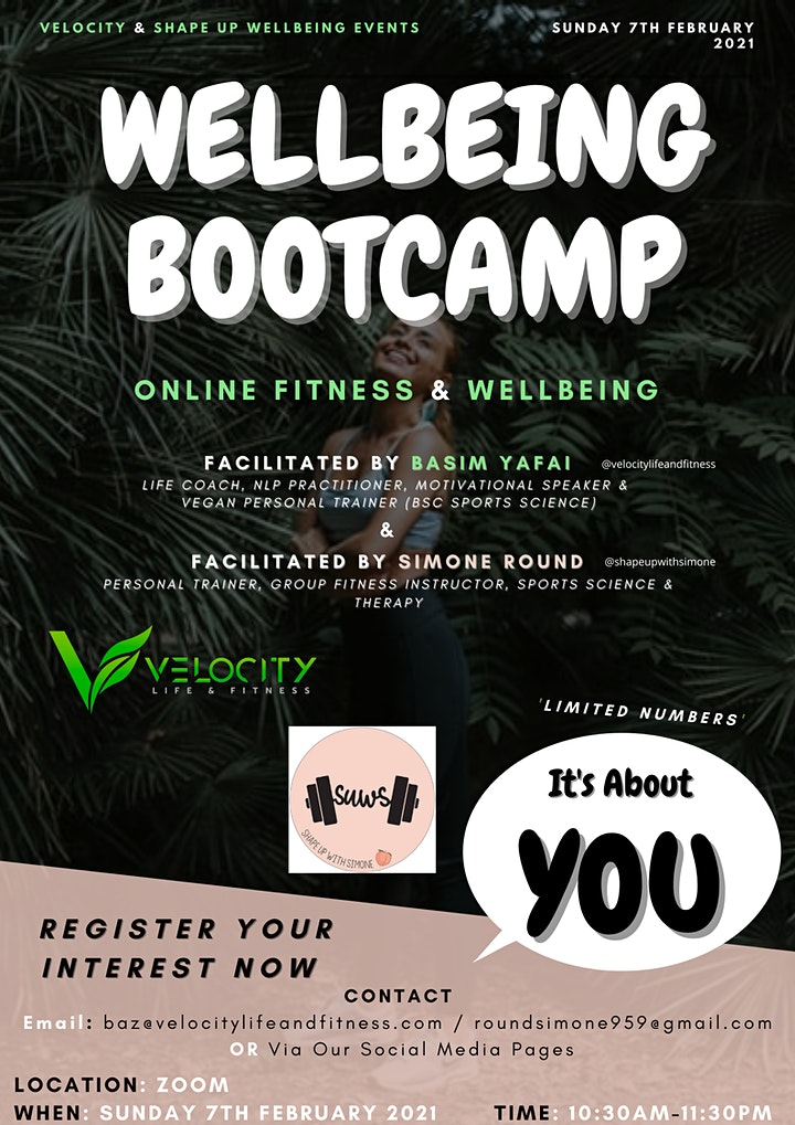 Online Wellbeing Bootcamp image