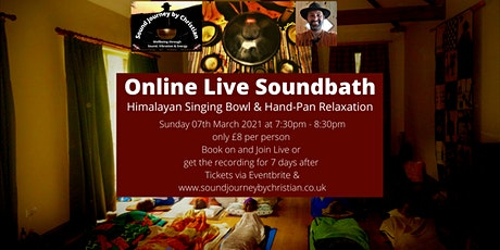 Online Live Meditation & Soundbath: Himalayan Bowls and Hand-pan Relaxation tickets