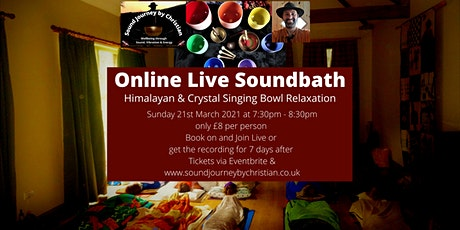 Online Live Meditation and Soundbath: Himalayan and Crystal Singing Bowls tickets