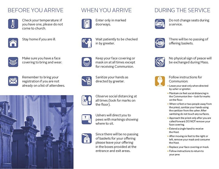 WELCOME to St. Ann Catholic Church Mass Reservation Page image