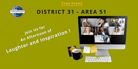 Area51-2021 Humorous Speech Contest & International Speech Contest tickets