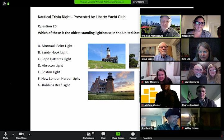 Liberty Yacht Club 3rd Virtual Trivia Night image