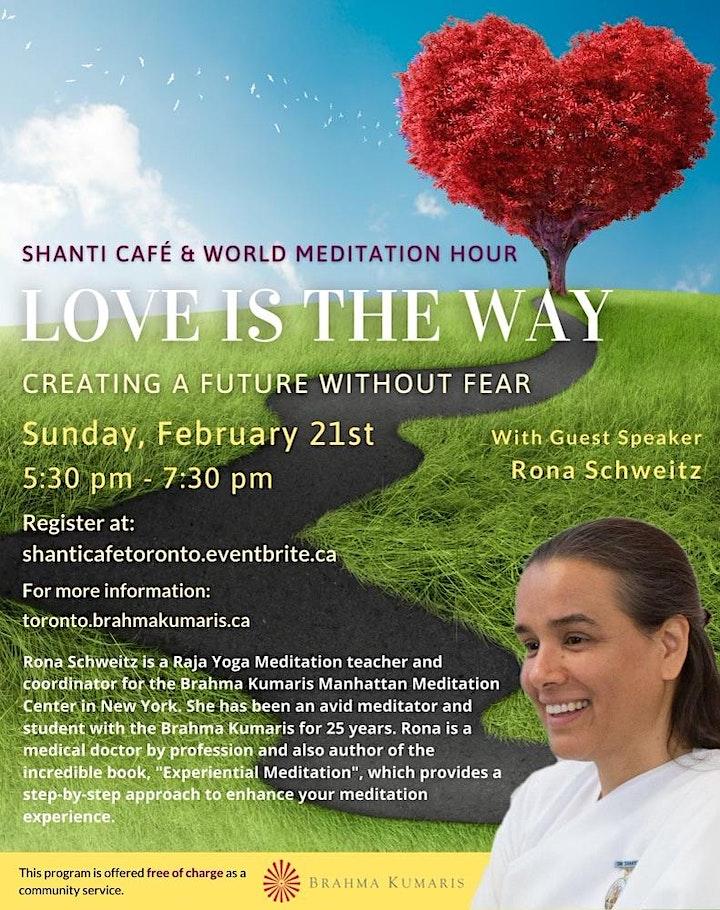 Shanti Cafe and World Meditation Hour image