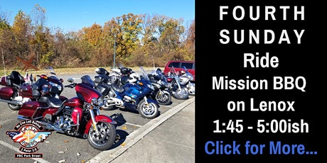 September 26th - Fourth Sunday Ride tickets