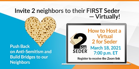 How to Host a Virtual 2 For Seder tickets
