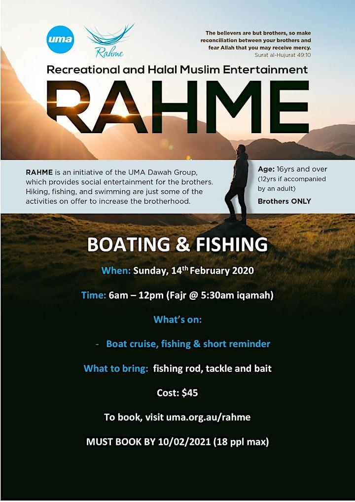 RAHME TRIP - BOAT CRUISE + FISHING (14/02/2021) image
