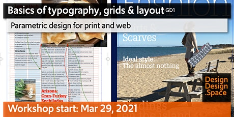 Basics of typography, grids & layout (GD1) tickets