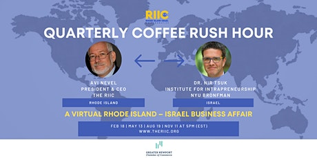 Quarterly Coffee Rush Hour: A Virtual Rhode Island Israel  Business Affair tickets