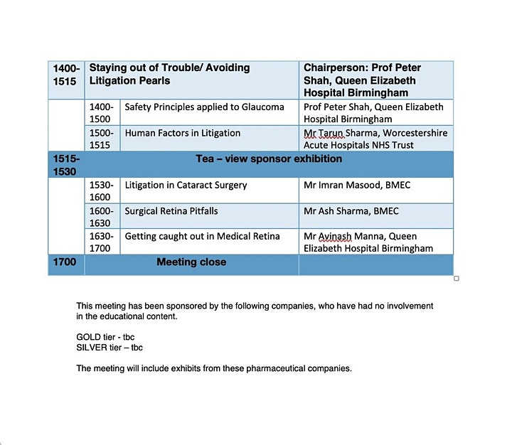 MOS Glaucoma Meeting, 26th March 2021 - Protecting Yourself from a Fall image